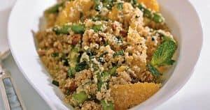 quinoa salad with Asparagus Dates and Oranges